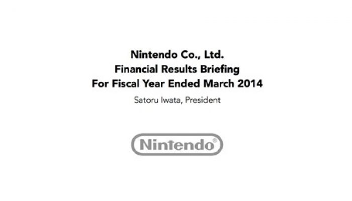 Nintendo FY3/2014 Financial Results Briefing, Part 1: Introduction and Priorities
