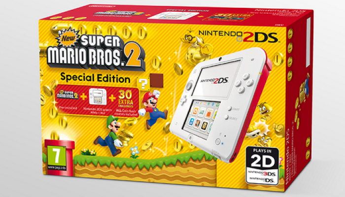 NoE: 'Nintendo 2DS goes Coin Rush crazy with the New Super Mario Bros. 2 Special Edition bundle!'