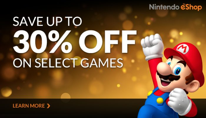 NoA: 'Nintendo eShop sale: Save up to 30% on select games'