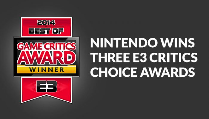 NoA: 'Nintendo wins three E3 Game Critics Awards'