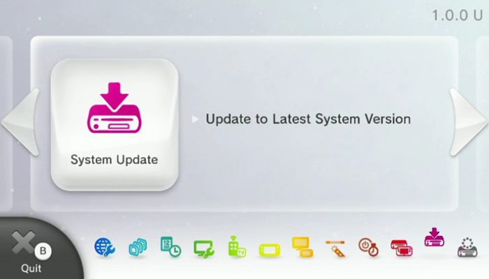 Wii U System Update 5.1.0 U is now available