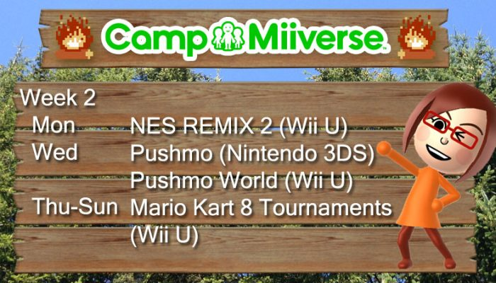 Camp Miiverse: This Second Week's Schedule
