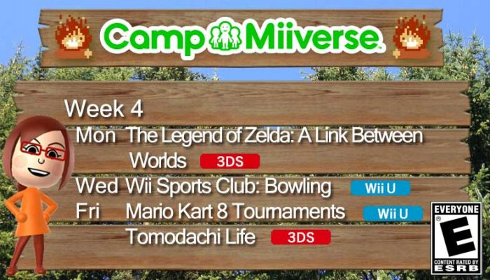 Camp Miiverse: This Fourth Week's Schedule
