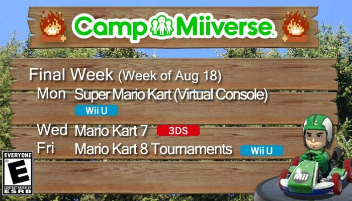 Camp Miiverse: Final Week's Schedule