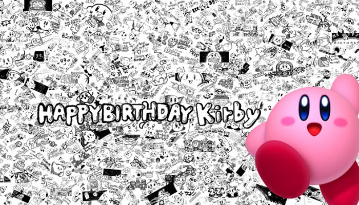 Camp Miiverse celebrates Kirby 22nd birthday with a collage of more than 600 fan-made drawings