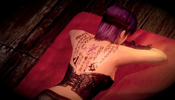 Zero: Nuregarasu no Miko – Screenshots with Ayane from Dead or Alive