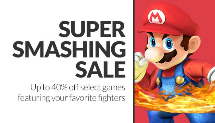 NoA: 'Super Smashing Sale: Up to 40% off select games through Oct. 2'