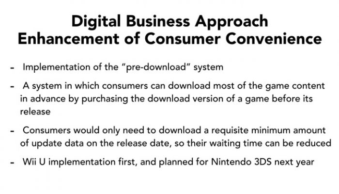 "Nintendo Q2 FY3/2015 Corporate Management Policy Briefing, Part 13: ""Pre-Download"" System"