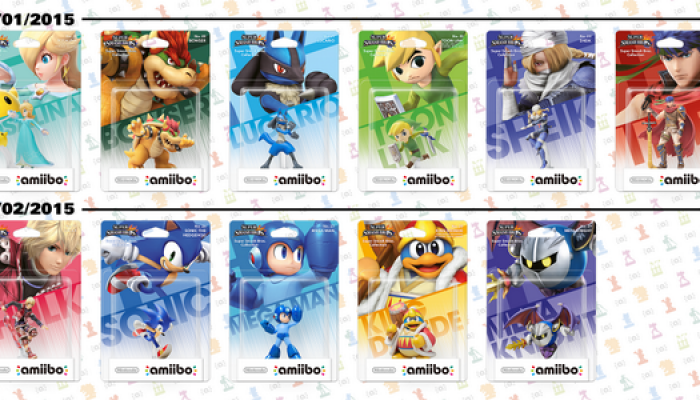 Nintendo of Europe reveals January and February 2015's amiibo line-ups