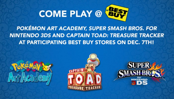 NoA: 'Play some of the season's hottest games at Best Buy on Dec. 7'