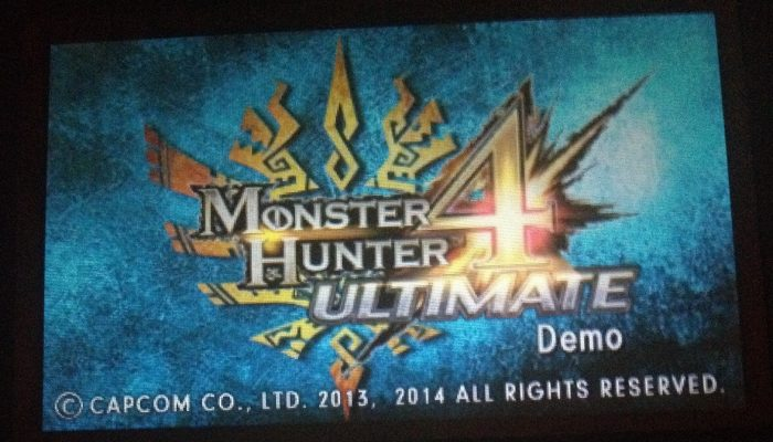 Monster Hunter 4 Ultimate Demo being distributed at European events