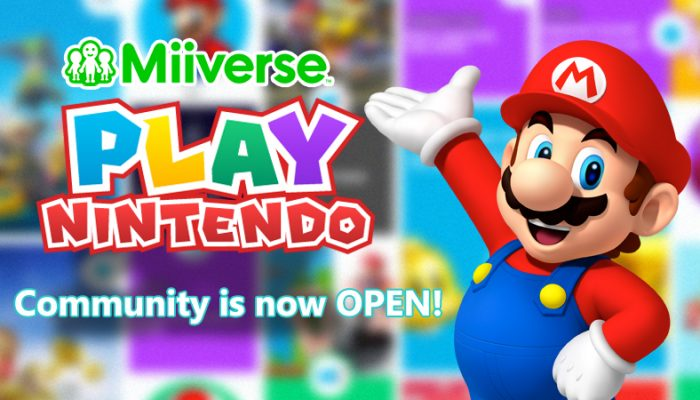Amy from Miiverse announces the Play Nintendo Community