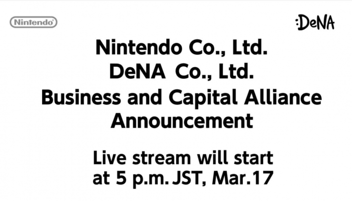 NoA: 'Nintendo And DeNA Form Business And Capital Alliance'