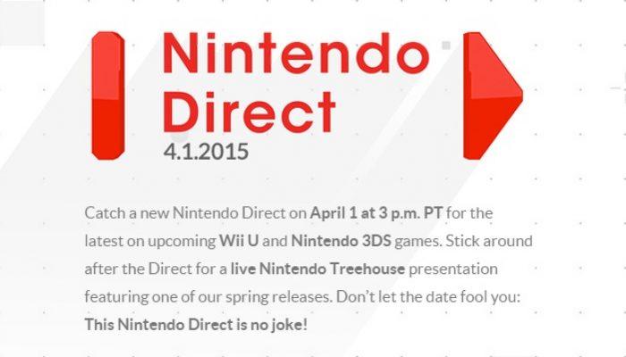 Nintendo Direct announced for April 1 (No joke.)