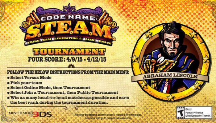 New Code Name S.T.E.A.M. Public Tournament starts on April 9