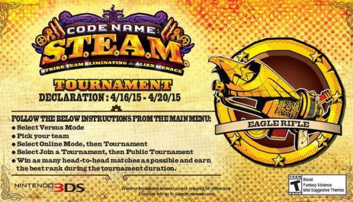 "Code Name S.T.E.A.M. ""Declaration"" Tournament starts on April 16"