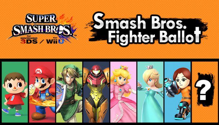 NoA: 'Vote for the new Super Smash Bros. fighter'
