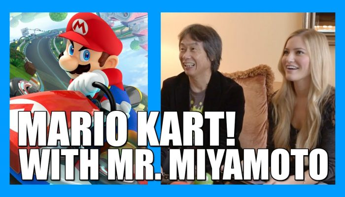 iJustine, Playing Mario Kart 8 with Mr. Miyamoto (Round 1)