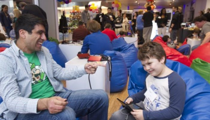 Photos of Nintendo Icon Mario and Kids, Parents and Fans Playing Puzzle & Dragons at Nintendo World Store in New York