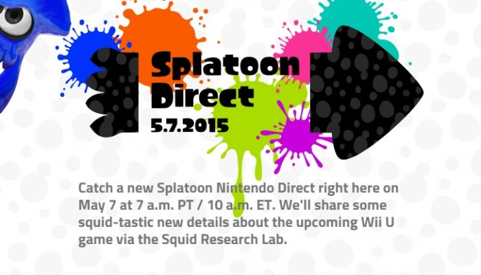 Splatoon Direct announced for Thursday, May 7, 7 AM Pacific