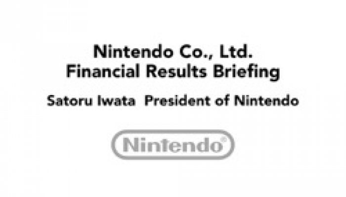 Nintendo FY3/2015 Financial Results Briefing, Part 1: Introduction and Back to Black