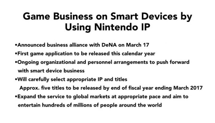 Nintendo FY3/2015 Financial Results Briefing, Part 10: Smart Devices