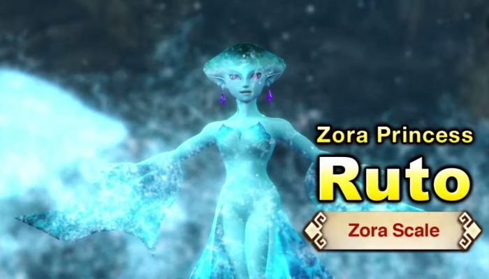 Hyrule Warriors – English Trailer with Ruto and a Zora Scale