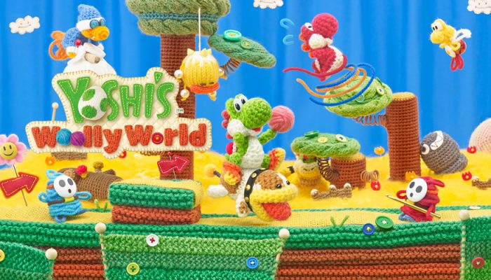 NoE: 'Jump into a lovingly-crafted world made out of yarn in Yoshi's Woolly World – coming to Wii U on 26th June'