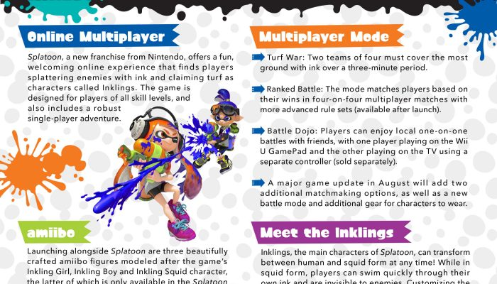 Splatoon – Release Graphic from Business Wire