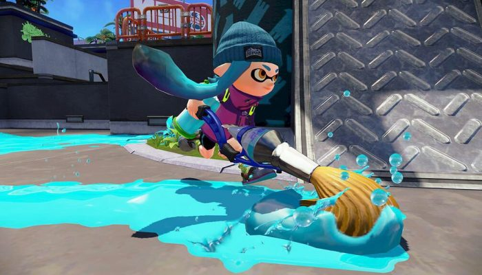 The Inkbrush in Splatoon is now available