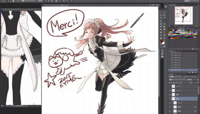 Fire Emblem Fates – Kozaki Yusuke dessine Felicia pour la Japan Expo (Version rapide)