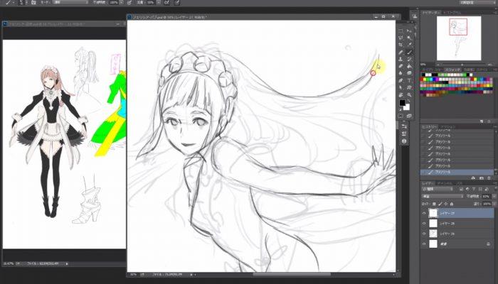 Fire Emblem Fates – Kozaki Yusuke dessine Felicia pour la Japan Expo (Version intégrale)