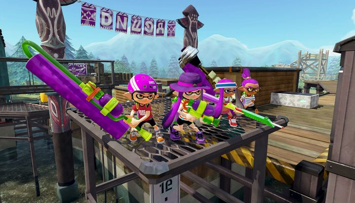 New map Camp Triggerfish now available in Splatoon