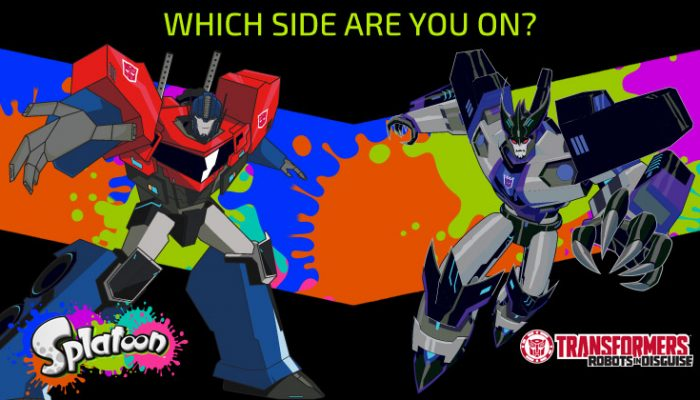 NoA: 'Nintendo and Hasbro join forces to let Transformers fans take sides in Splatoon'