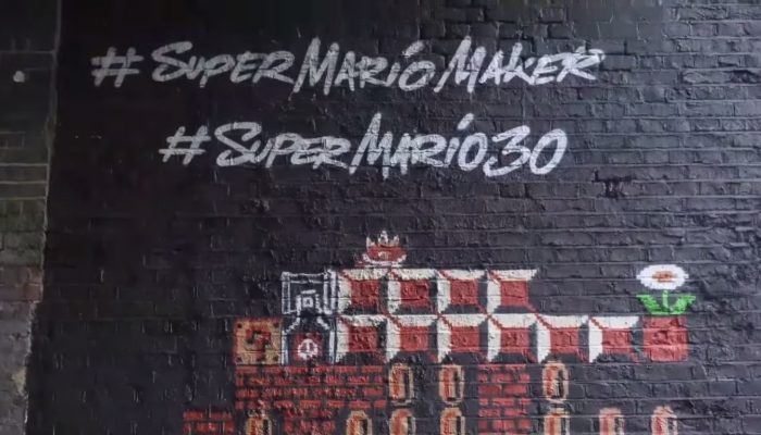 Super Mario Maker – Super Mario 30th Anniversary London Mural