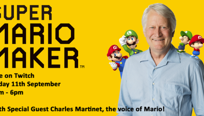 Nintendo UK: 'Live: Charles Martinet, voice of Mario, joins us to play Super Mario Maker!'