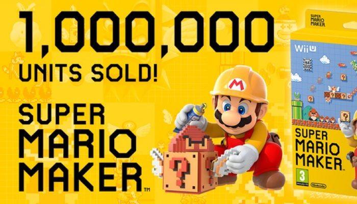 NoA: 'Super Mario Maker Has Sold 1 Million Units around the World'