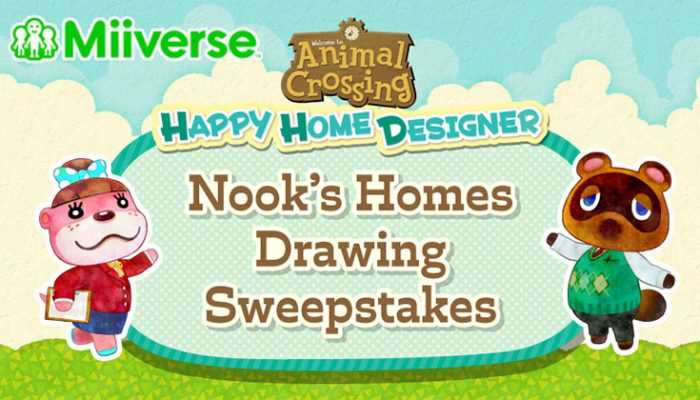 NoA: 'Miiverse Nook's Homes drawing sweepstakes'