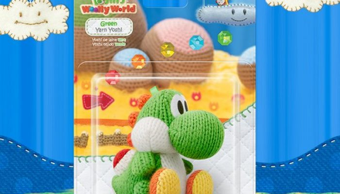 Standalone green Yarn Yoshi amiibo available November 13 in North America