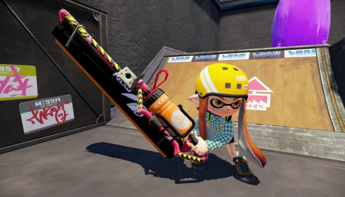 New weapon Carbon Roller Deco now available in Splatoon