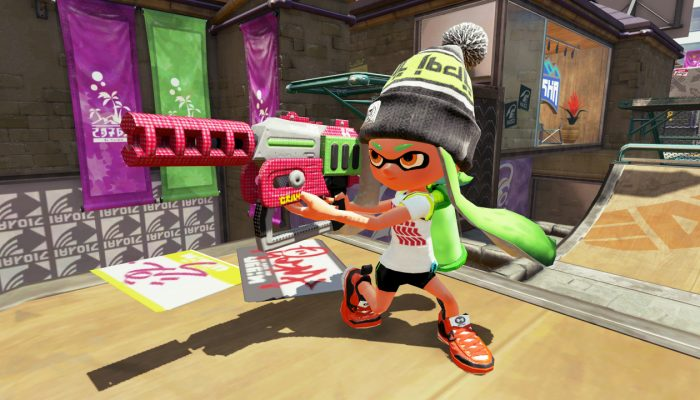 New weapon Rapid Blaster Pro now available in Splatoon