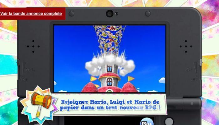 Mario & Luigi : Paper Jam Bros. – Pubs Paper Mario se plie en 4 pour Mario & Luigi