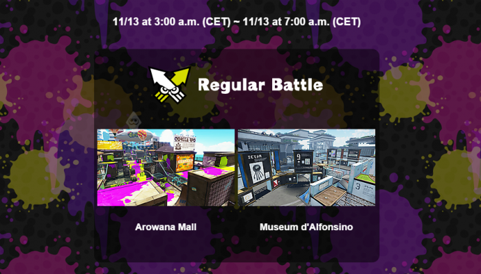 New map Museum d'Alphonsino coming to Splatoon tonight