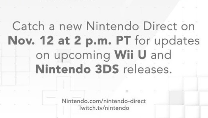 Nintendo Direct announced for November 12, 2 PM PT