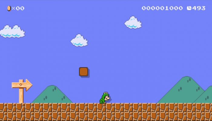 Super Mario Maker – Japanese Frog Mario Costume Footage