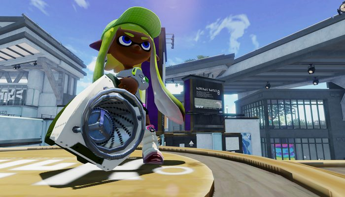New weapon Sloshing Machine soon available in Splatoon