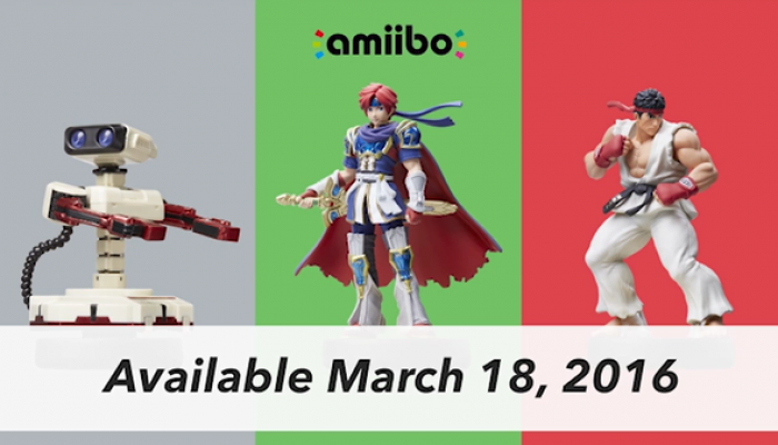 Famicom R.O.B., Roy and Ryu amiibo to launch on March 18