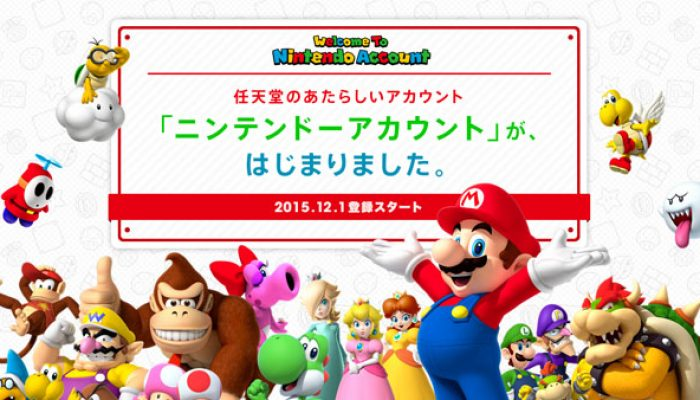 A Nintendo Preview via Gematsu: 'Nintendo Account service launched in Japan'