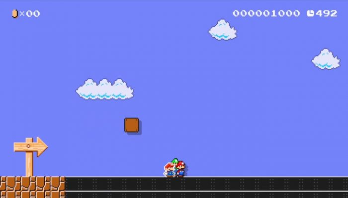 Super Mario Maker – Japanese Paper Jam Costume Footage