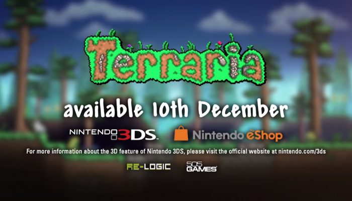 Terraria launches on Nintendo 3DS on December 10